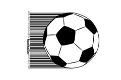Silhouette of a soccer ball. Royalty Free Stock Photos