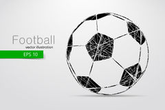 Silhouette of a soccer ball. Stock Photo
