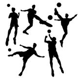 Silhouette of Soccer football player Royalty Free Stock Image