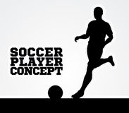 Silhouette Soccer Player Concept Stock Photos