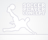 Silhouette Soccer Player Royalty Free Stock Photo