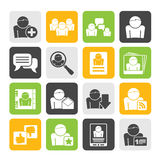 Silhouette Social Media and Network icons Royalty Free Stock Photo