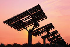 Silhouette of solar panel Stock Images
