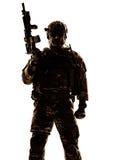 silhouette soldaten royaltyfria bilder