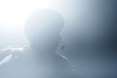 A silhouette of a soldier Royalty Free Stock Photography