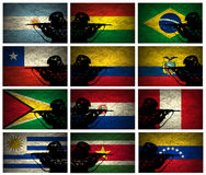South America Military Strength Stock Photography