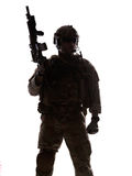 Silhouette of soldier Royalty Free Stock Photos