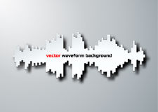 Silhouette of sound waveform with shadow. Paper silhouette of sound waveform sign with shadow Royalty Free Stock Image
