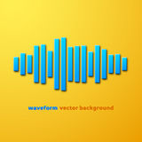 Silhouette of sound waveform with shadow Royalty Free Stock Photography