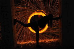 Silhouette sparkling. Forms with steel wool Royalty Free Stock Image