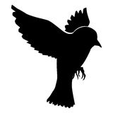 Silhouette of sparrow. Bird series Royalty Free Stock Images