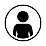 Silhouette sphere of half body icon figure human Royalty Free Stock Photography