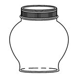 Silhouette spherical glass container with lid Royalty Free Stock Photos