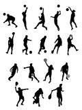 Silhouette sport. Sport icons and black silhouette Stock Photography