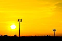 Silhouette sport stadium Royalty Free Stock Image