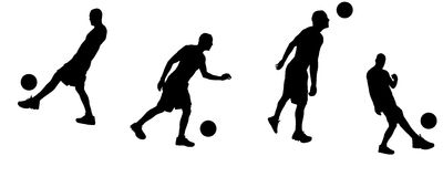 Silhouette sport Royalty Free Stock Image