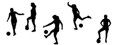 Silhouette sport Royalty Free Stock Images