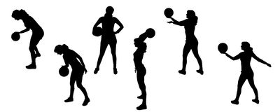 Silhouette sport Royalty Free Stock Photos