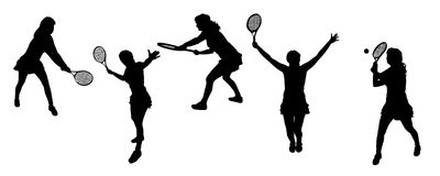 Silhouette sport Stock Photo