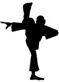 Silhouette of a sportsman Royalty Free Stock Photo