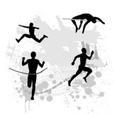 Silhouette of the sportsman Royalty Free Stock Photography