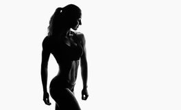 Silhouette of sporty athlete Stock Image