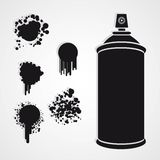 Silhouette spray bottle Stock Images