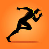 Silhouette of a sprinter. Silhouette illustration of a sprinter Royalty Free Stock Photography