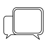 Silhouette square chat bubbles icon. Illustraction design Stock Images
