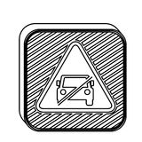 Silhouette square shape no parking traffic sign Royalty Free Stock Photography