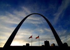Silhouette of St. Louis Arch Royalty Free Stock Photo