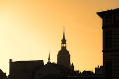 Silhouette of St. Mary's Church, Stralsund, Germany Royalty Free Stock Photo