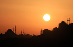 Silhouette of İstanbul Stock Images
