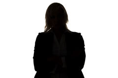 Silhouette of standing businesswoman Royalty Free Stock Images
