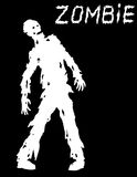Silhouette of a standing zombie concept. Vector illustration. Stock Photo