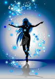silhouette in a star dust vector illustration