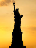 Silhouette of the Statue of Liberty Royalty Free Stock Images