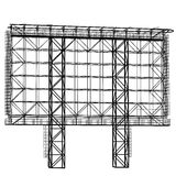 Silhouette of Steel structure billboard. Vector Stock Photo