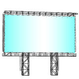 Silhouette of Steel structure billboard Royalty Free Stock Image