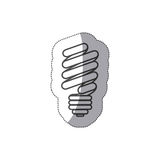 Silhouette sticker eco bulb icon. Illustraction design Stock Photos