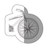 Silhouette sticker medium part bicycle with pedals Stock Photography