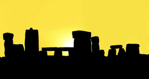 Silhouette of the Stonehenge royalty free stock images