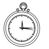Silhouette stopwatch graphic icon flat Stock Photography