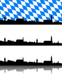Silhouette of Straubing, Bavaria Royalty Free Stock Image