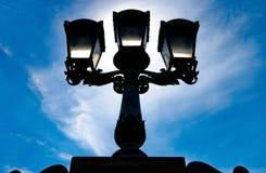 Silhouette of  streetlight Stock Photo