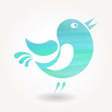 Silhouette stylisée de petit oiseau Photo stock