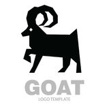 Silhouette stylized drawing goat or nanny Stock Images