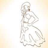 Silhouette of stylized glamour girl Stock Image