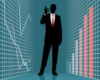 Silhouette of a successful businessman vector illustration