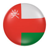 Silhouette of Sultanate of Oman button Stock Photos
